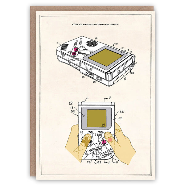Patent Application Card - Game Boy