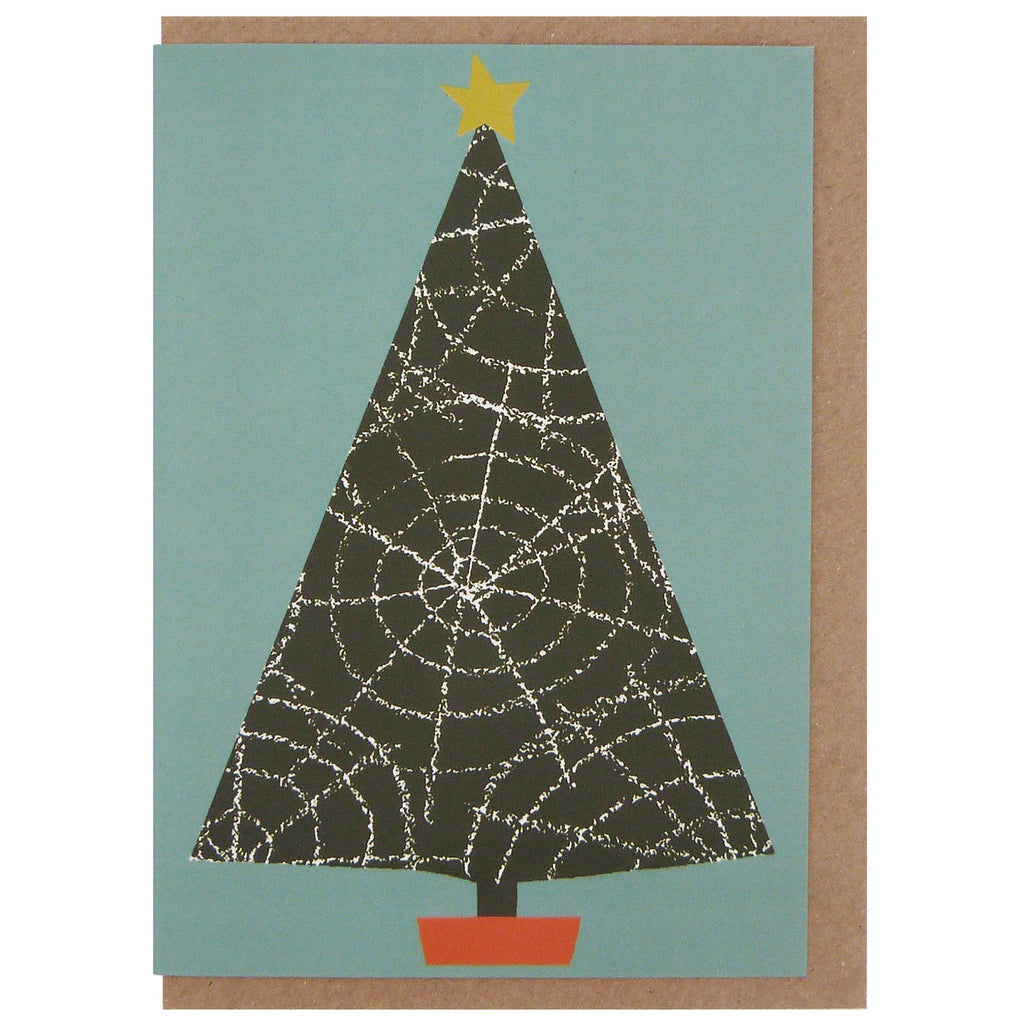 Cobweb Christmas Tree Card