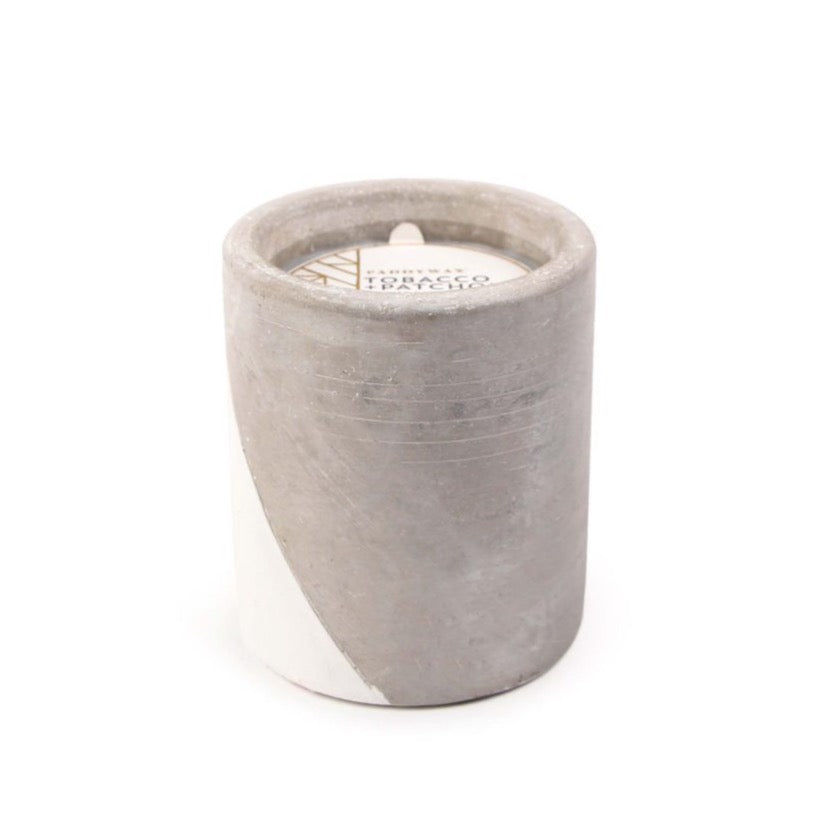 12oz Tobacco & Patchouli Soywax Candle in Concrete