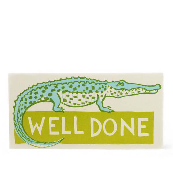 Crocodile Well Done Long Card