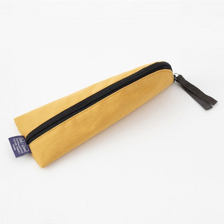 Midori Canvas Pencil Case - Yellow