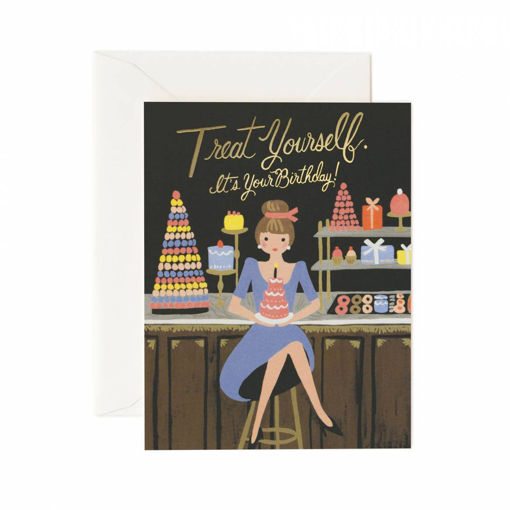 Treat Yourself Birthday Card by Rifle Paper Co