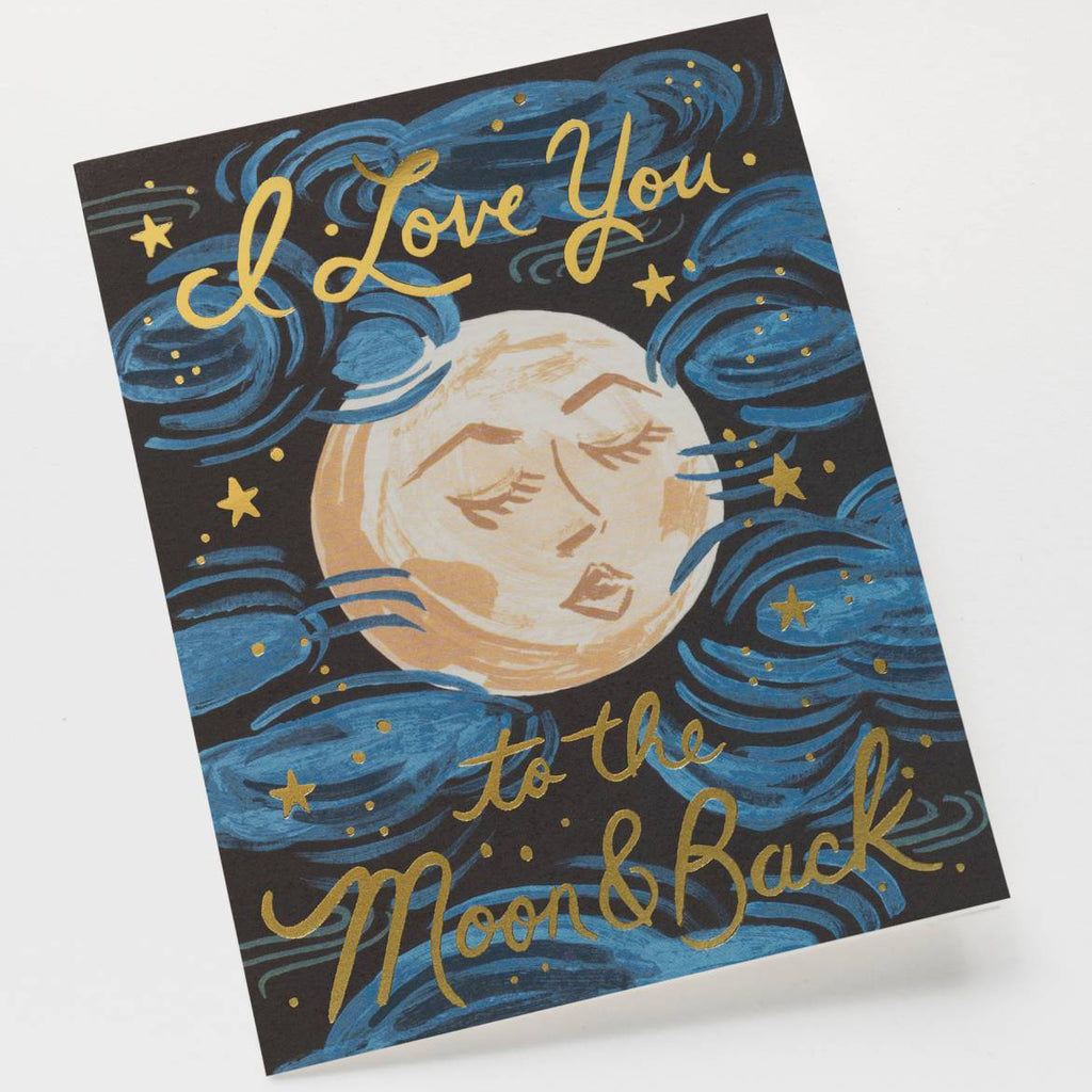 To The Moon And Back - Greetings Card by Rifle Paper Co