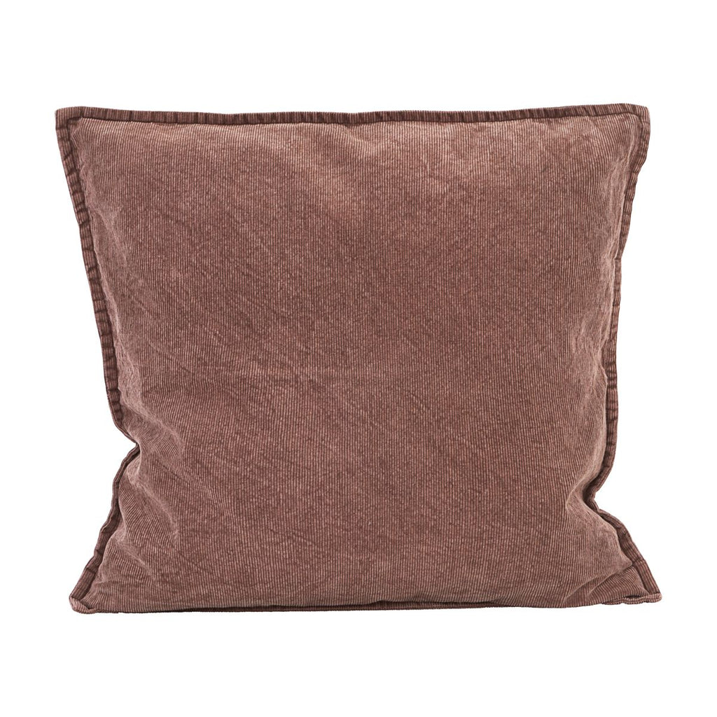 Cotton Cord Cushion Cover - Rust