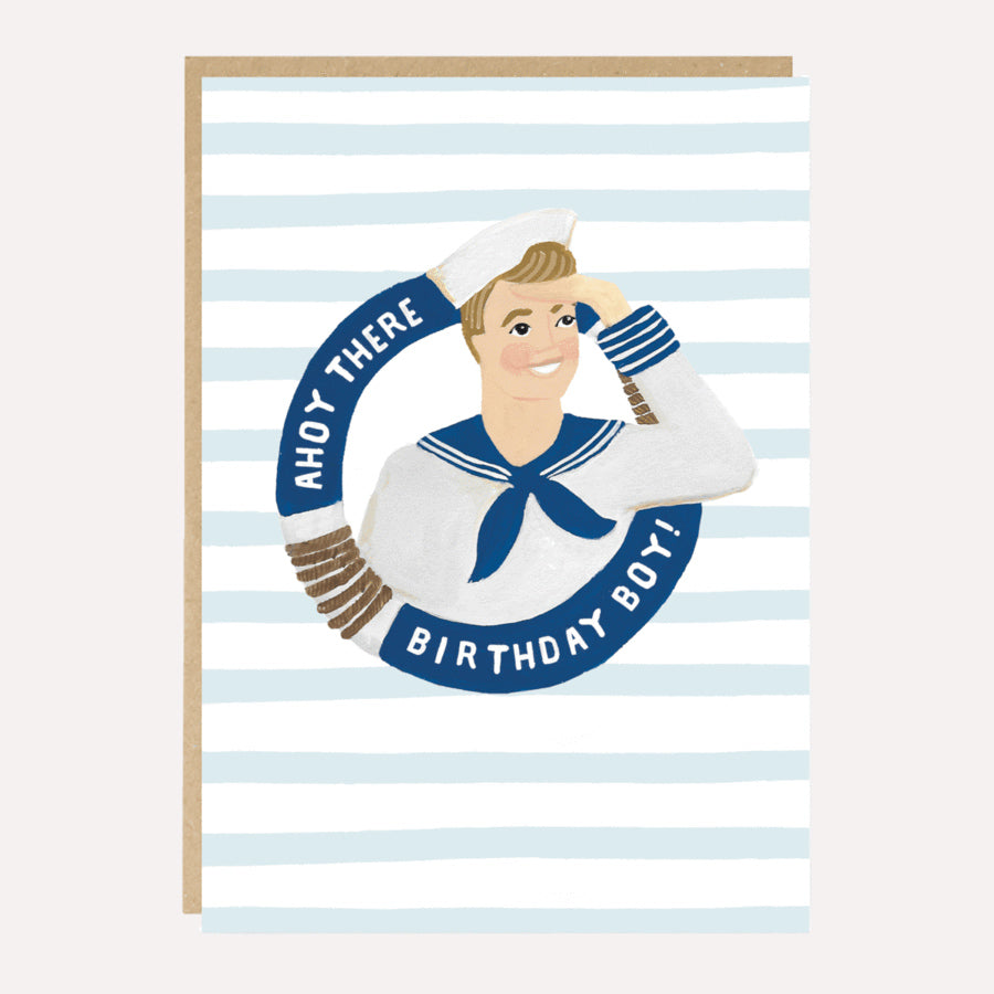 ** Ahoy Birthday Boy! Birthday Card