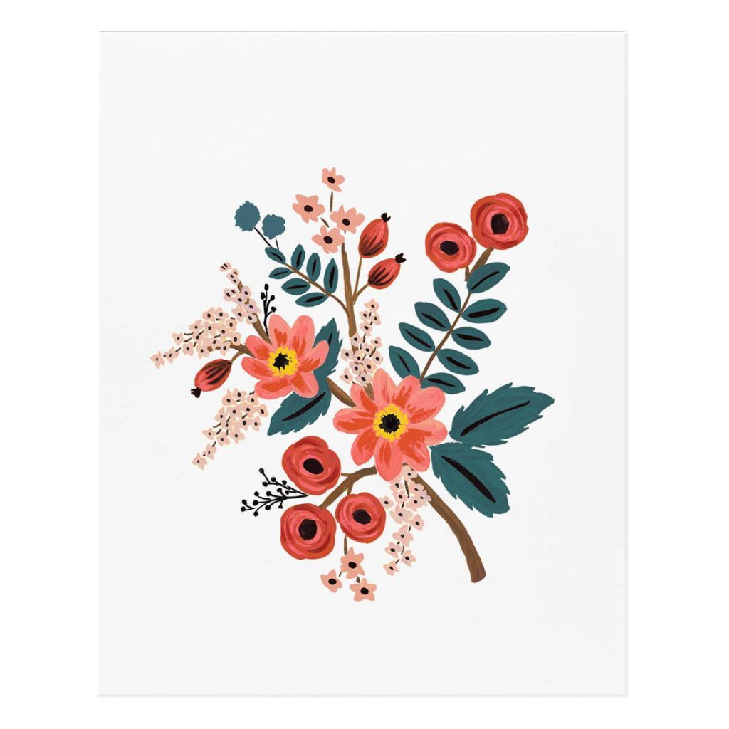 Coral Botanical Art Print by Rifle Paper Co