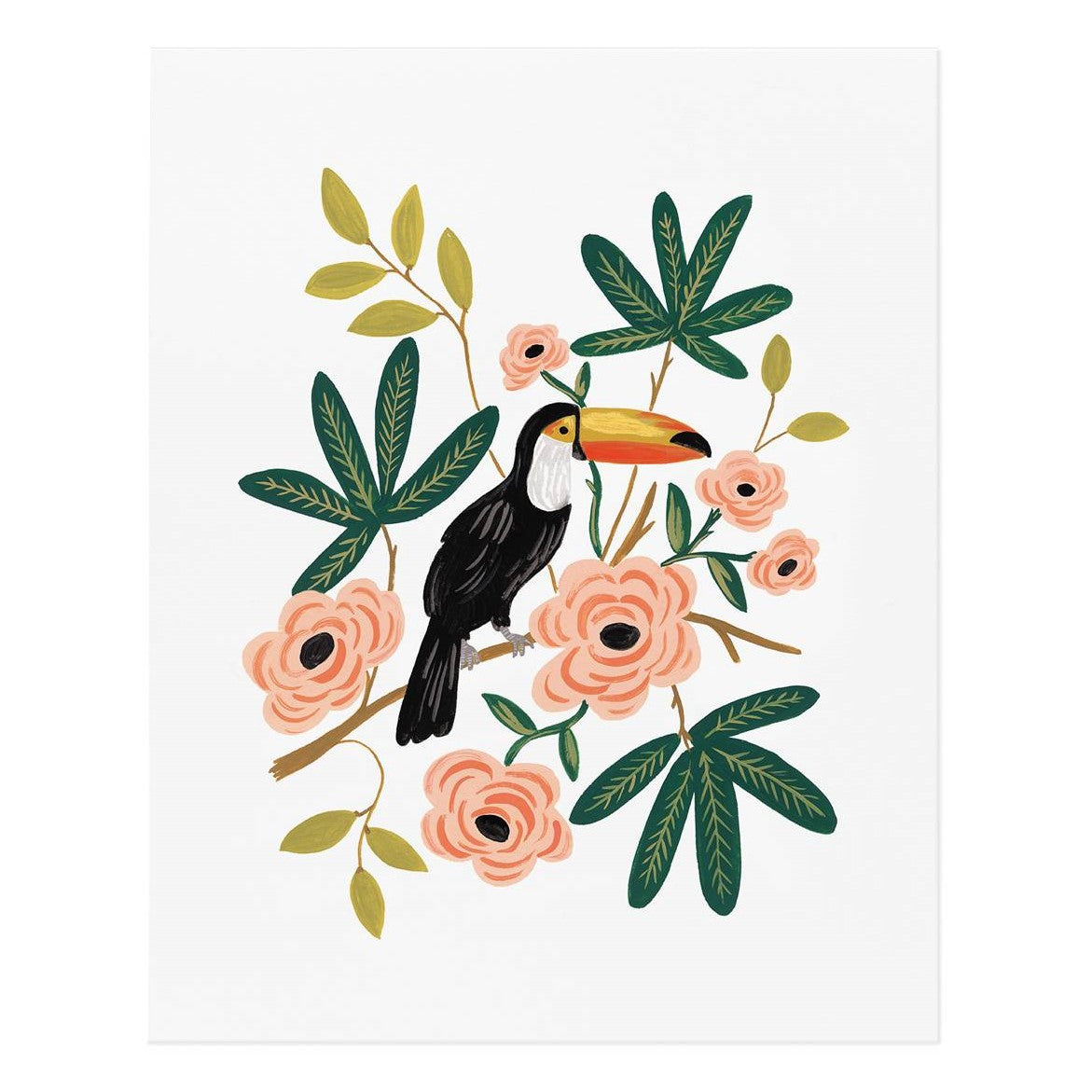 large toucan print by rifle paper co berylune. Black Bedroom Furniture Sets. Home Design Ideas