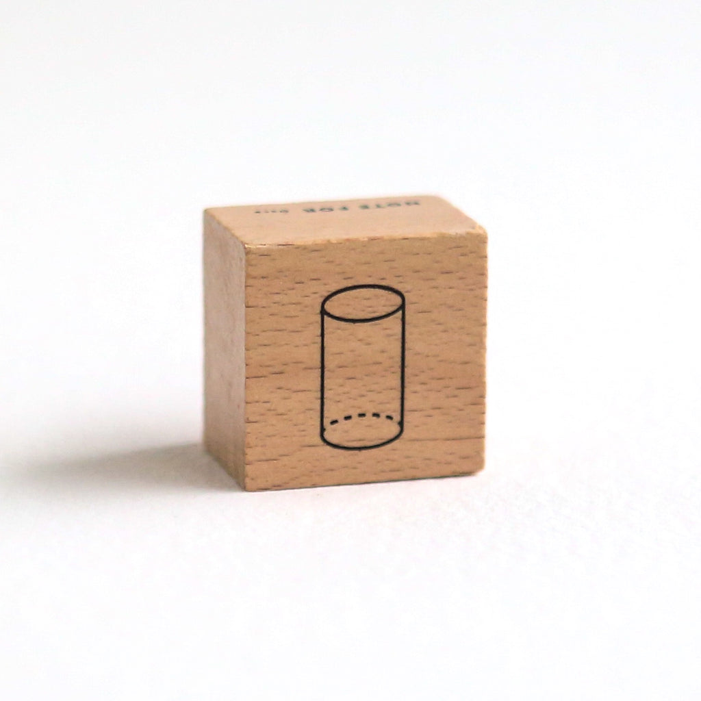 Mathematical Geometric Shape Rubber Stamp - 3D Cylinder