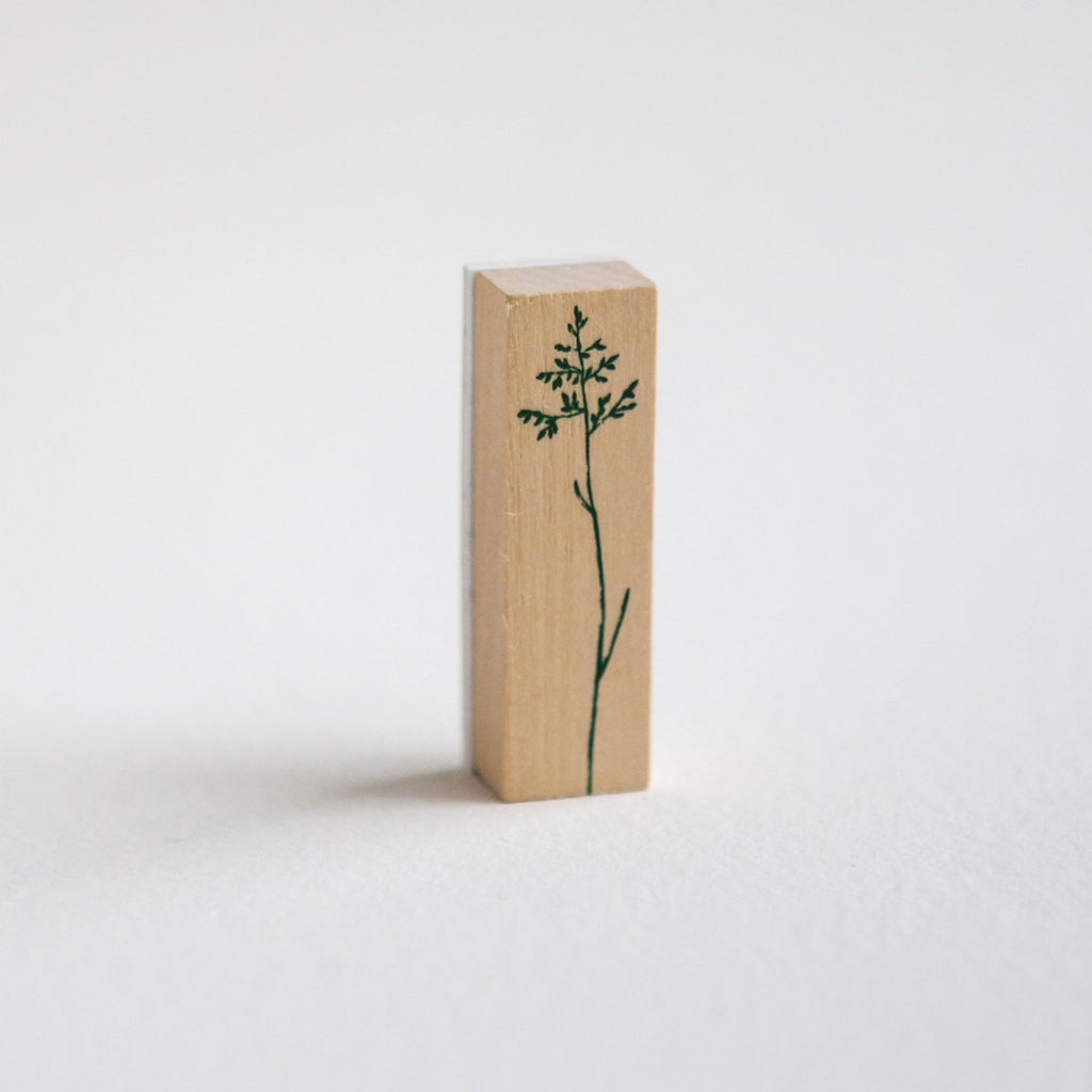 Delicate Botanical Stem Rubber Stamp - Design 3