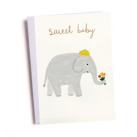 Sweet Elephant New Baby Greetings Card