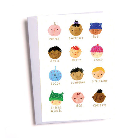 Baby Faces Greetings Card