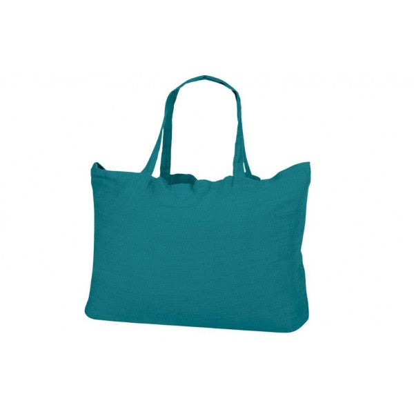 Washed Linen Sloppy Shoulder Bag - Teal