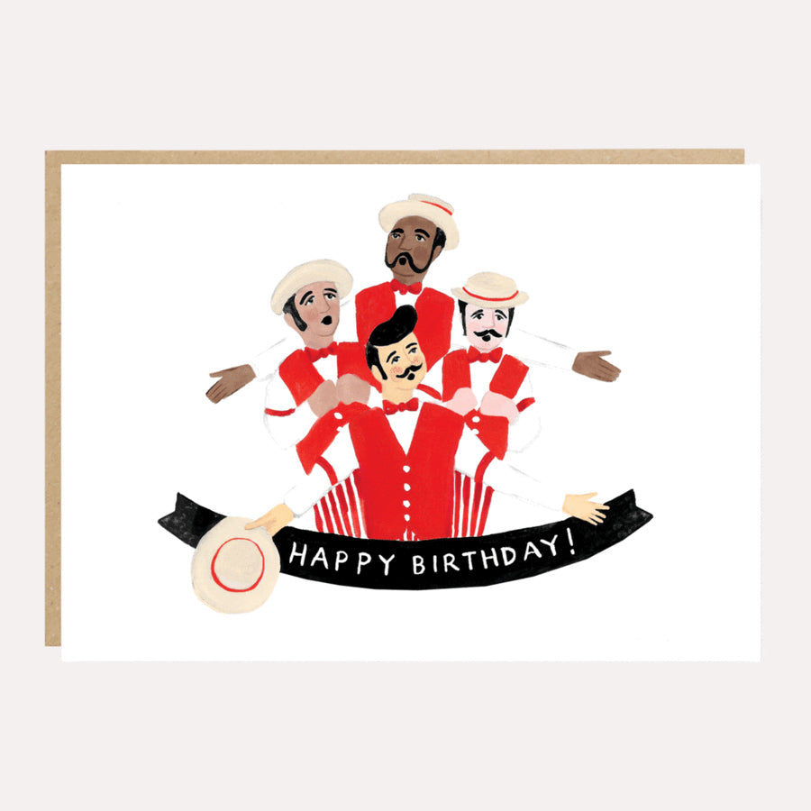 ** Barbershop Quartet Birthday Card
