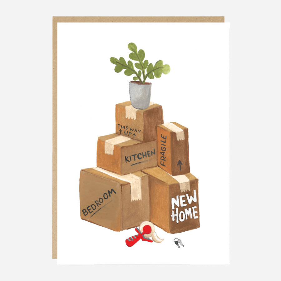 Boxes and Ficus New Home Card