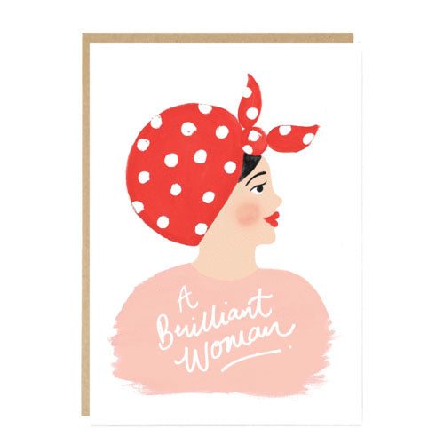 ** A Brilliant Woman Card