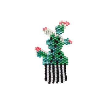 Beaded Cactus Brooch Kit