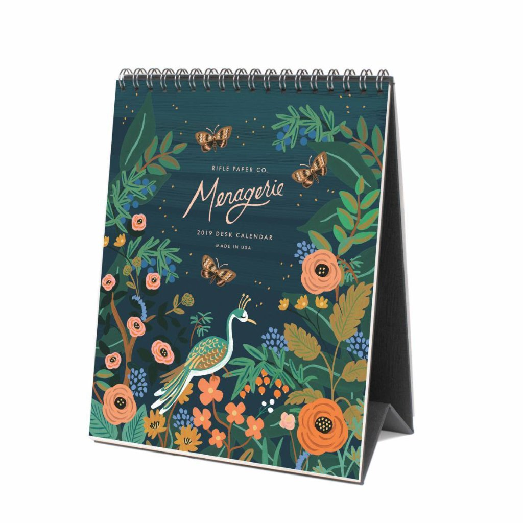 Midnight Menagerie Desk Calendar 2019