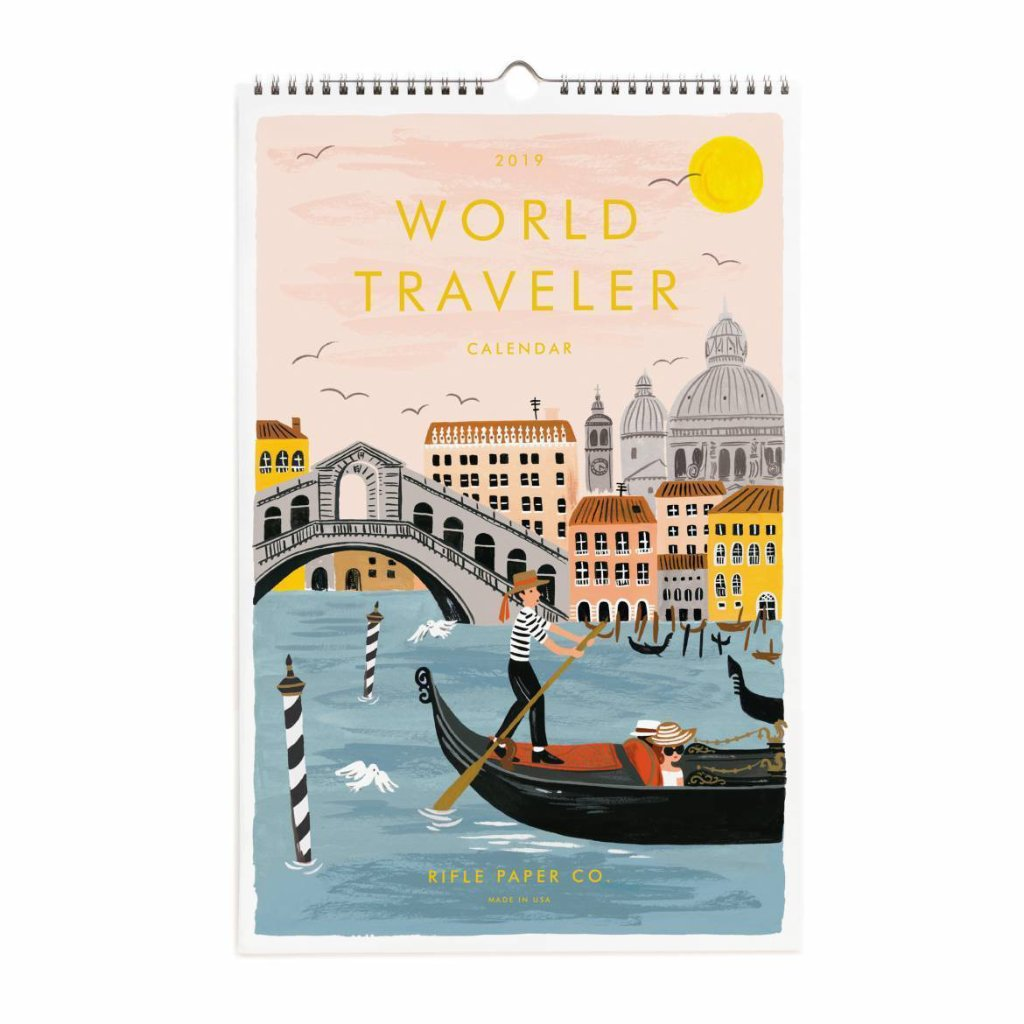 World Traveller Wall Calendar 2019