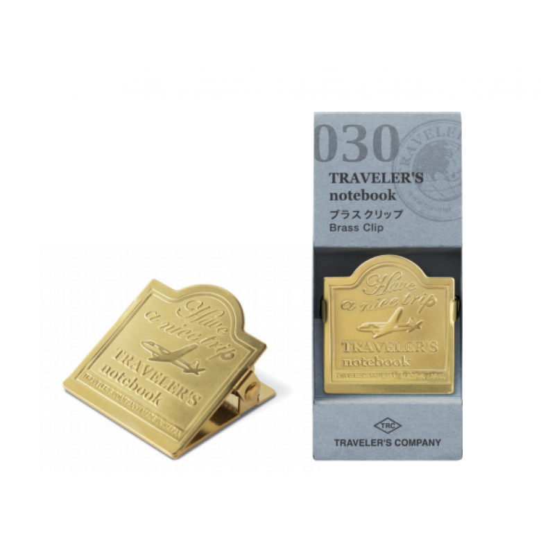 Midori Traveler's Notebook Brass Clip - Airplane
