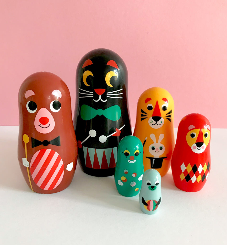 Carnival Animal Russian Doll Set