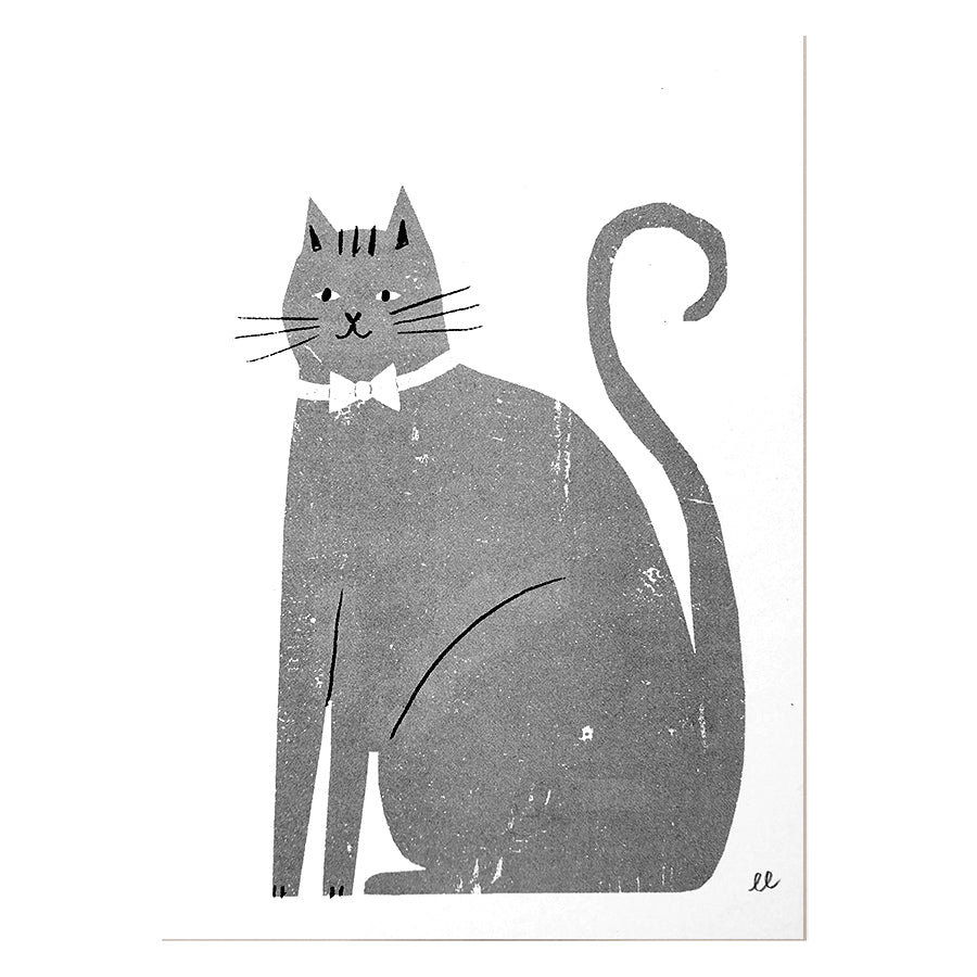 Chaming Cat Risograph Print