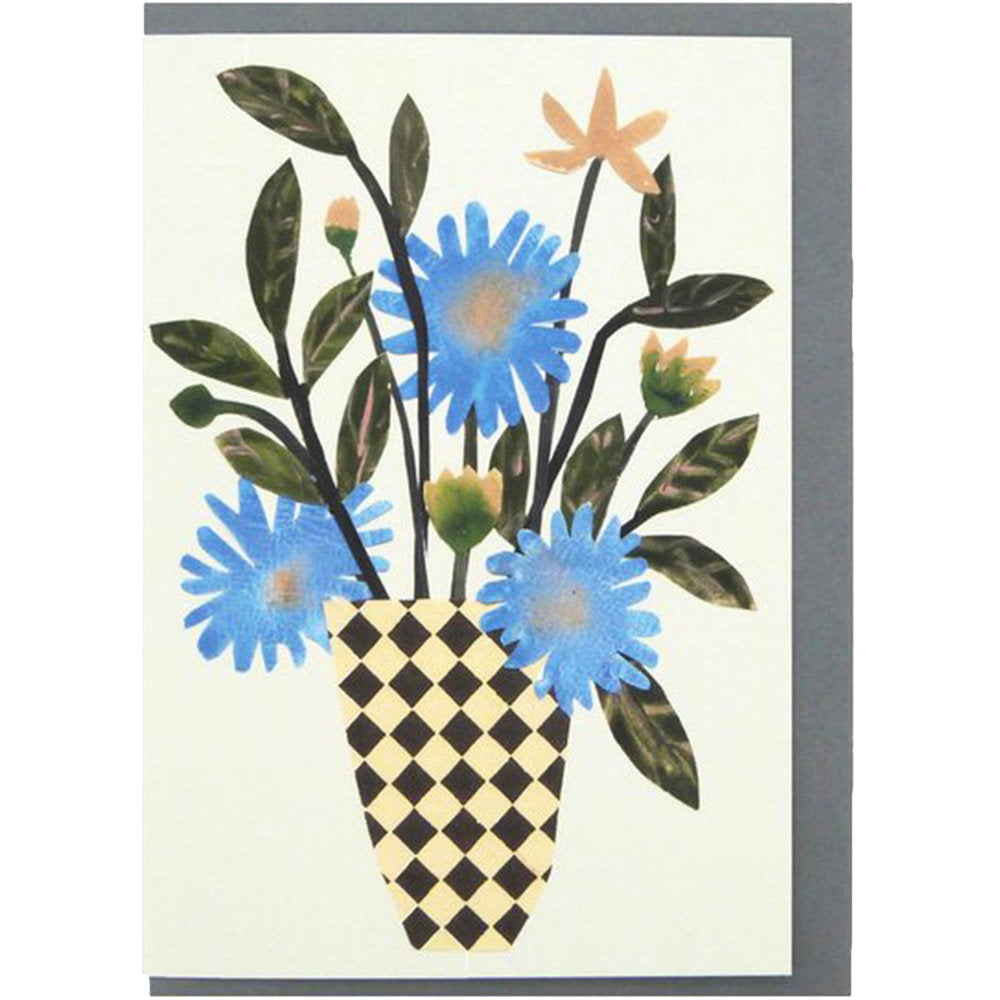 Chequer Vase Bloom Card