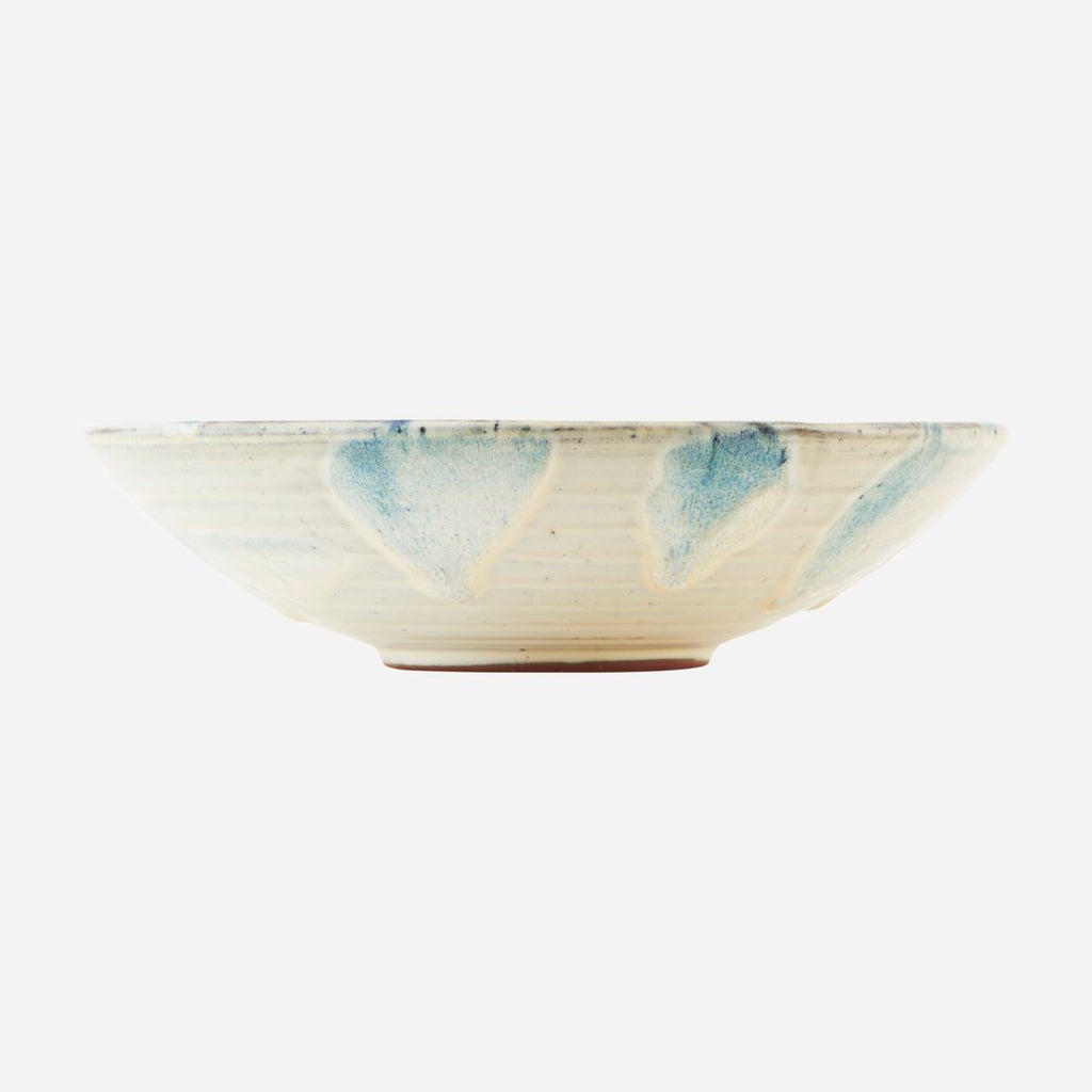 Mio Bowl in White and Blue - Large