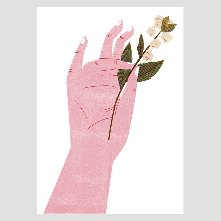 Flower Hand - Cotton Digital Print