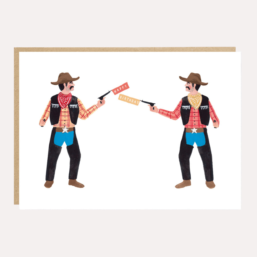 ** Cowboy Shoot Out Birthday Card