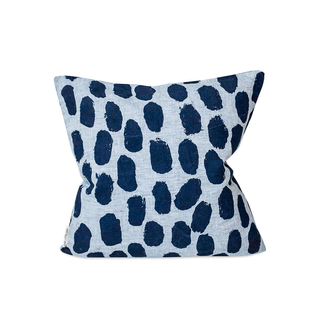 Dots Cushion Cover - Blue
