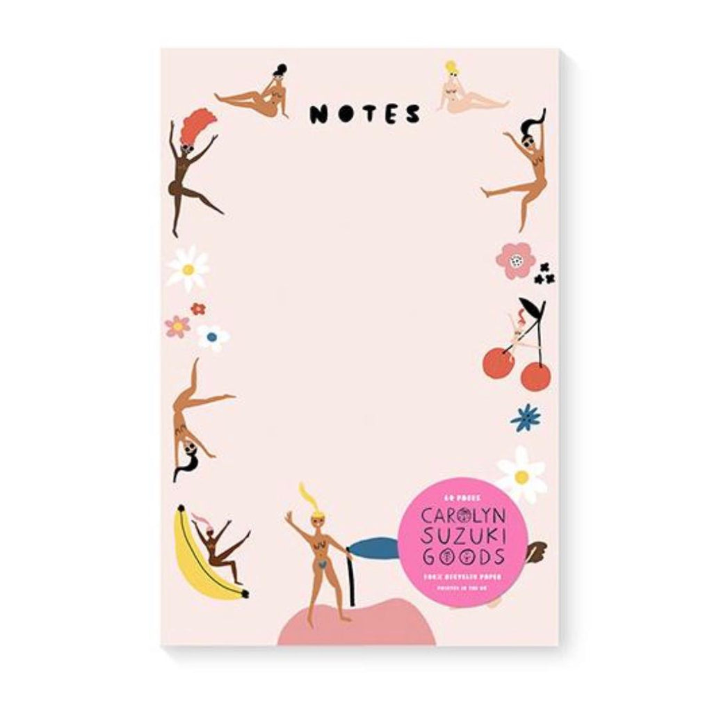 Carolyn Suzuki Fruity Nudes Notepad