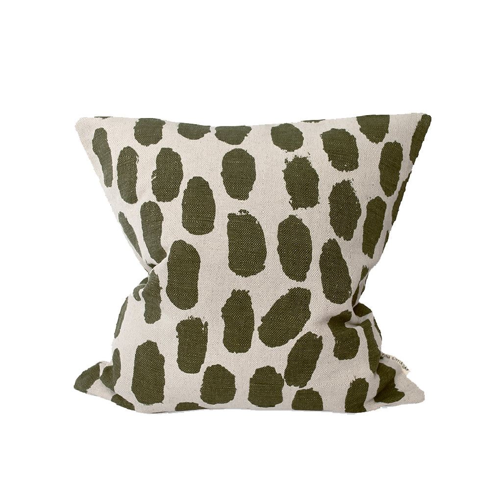 Dots Cushion Cover - Olive