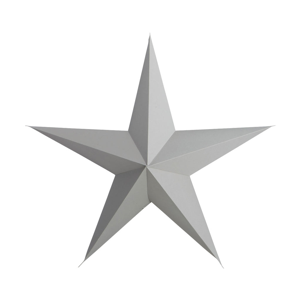 One Large Grey Paper Star Ornament