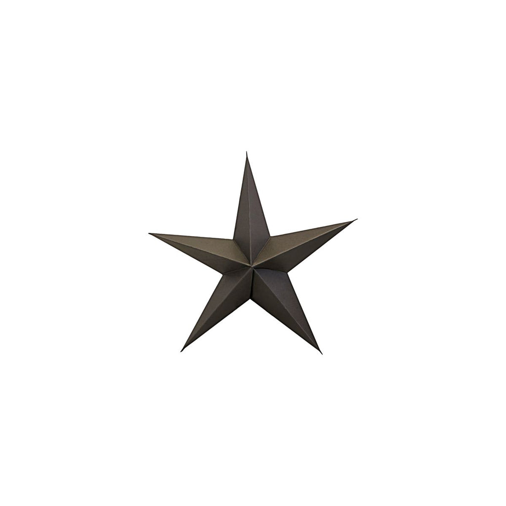 One Large Charcoal Paper Star Ornament