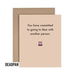 Deadpan Engagement Card