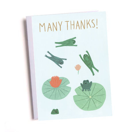 Many Thanks Frogs Greetings Card