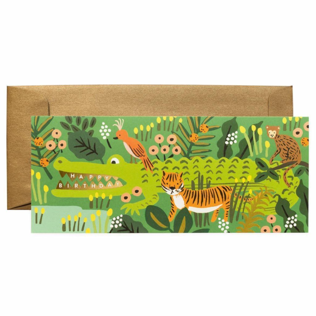 ***	Alligator Birthday Card by Rifle Paper Co.
