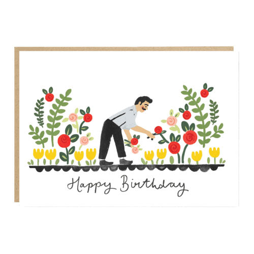 ** Gardener Birthday Card
