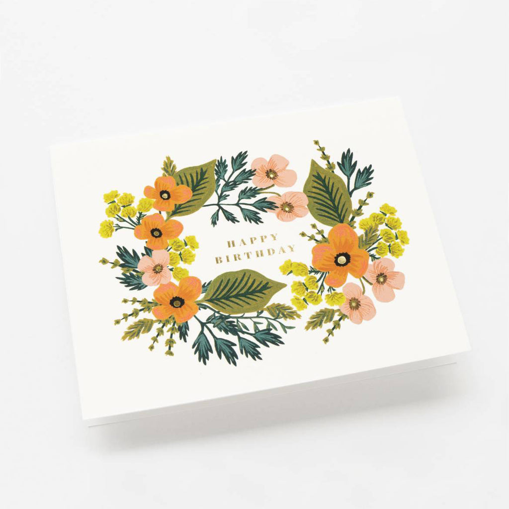 Happy Birthday Bouquet - Greetings Card by Rifle Paper Co