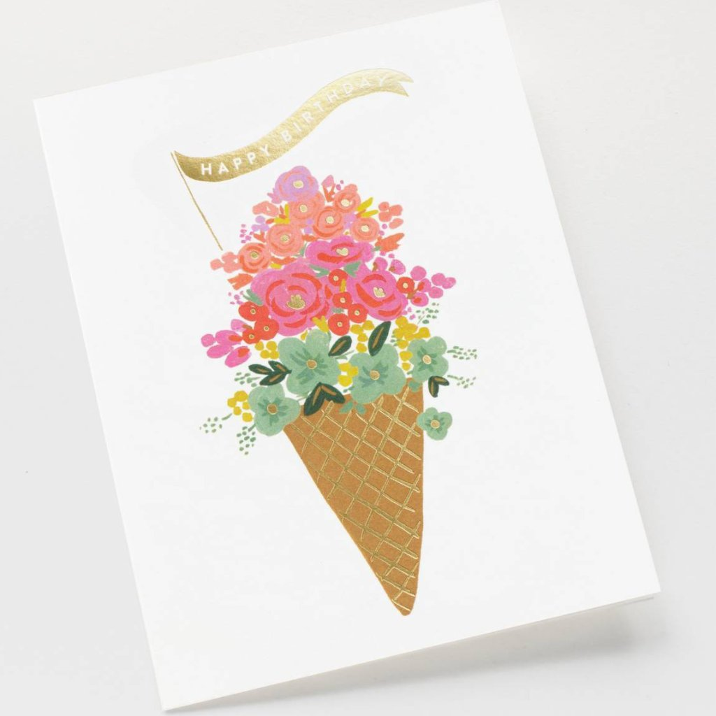 Ice Cream Birthday - Greetings Card by Rifle Paper Co