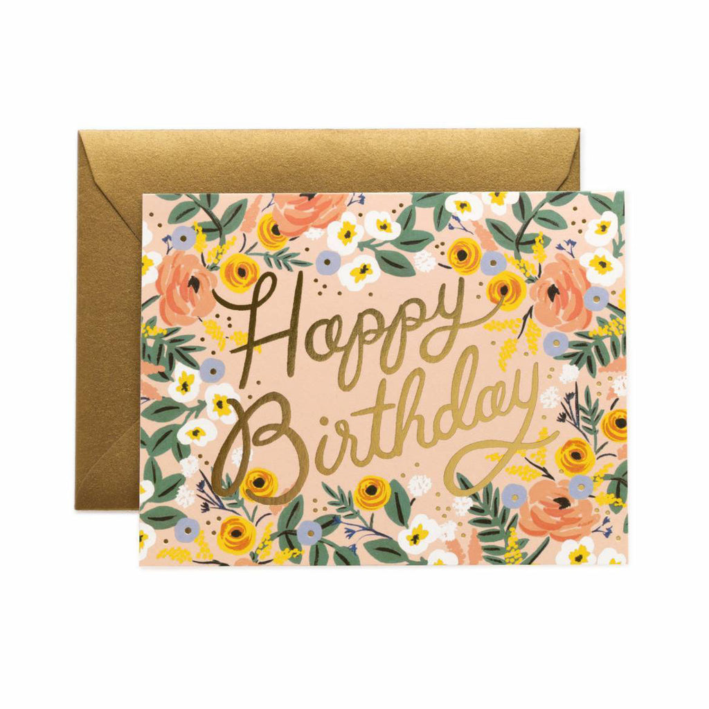 Rosé Birthday - Greetings Card by Rifle Paper Co