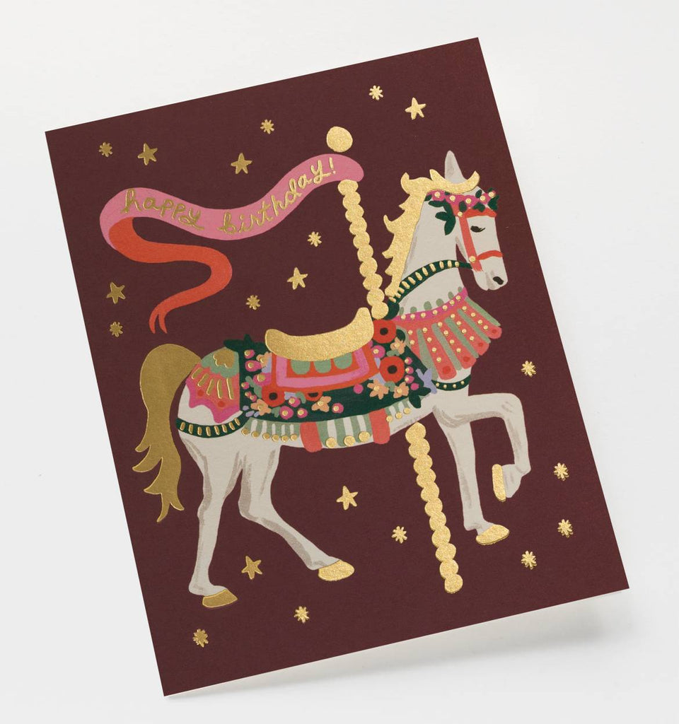 Carousel Horse Birthday Card by Rifle Paper Co.