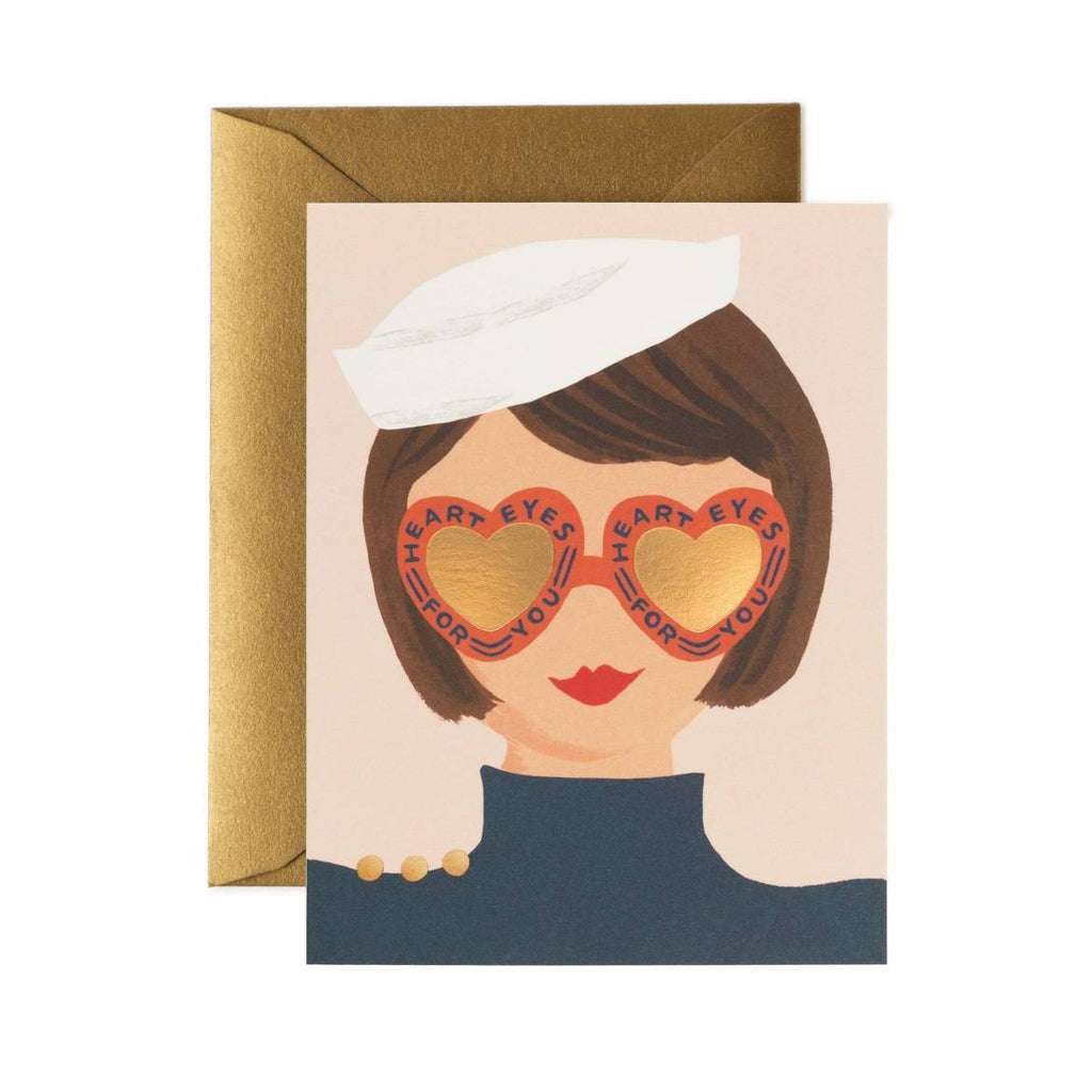 Heart Eyes -Valentines Greetings Card by Rifle Paper Co