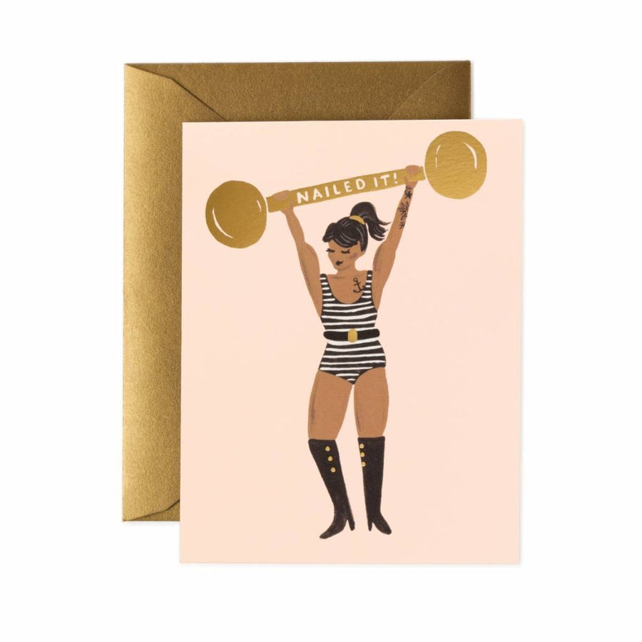 Nailed It!- Greetings Card by Rifle Paper Co
