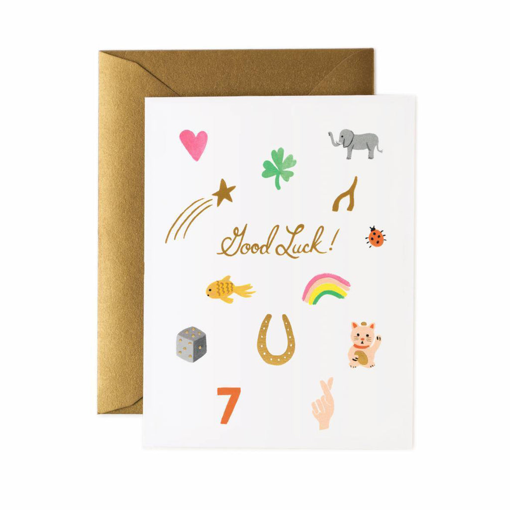 Lucky Charms Good Luck Card by Rifle Paper Co
