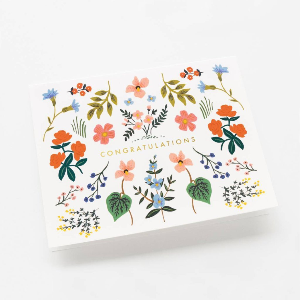 Wildwood Congratulations - Greetings Card by Rifle Paper Co