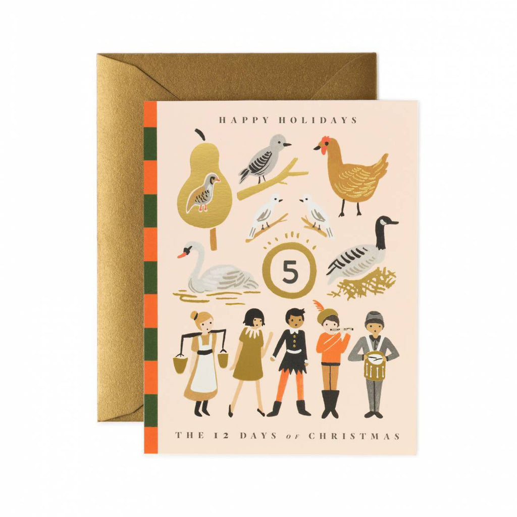 12 Days Of Christmas - Christmas Greetings Card by Rifle Paper Co