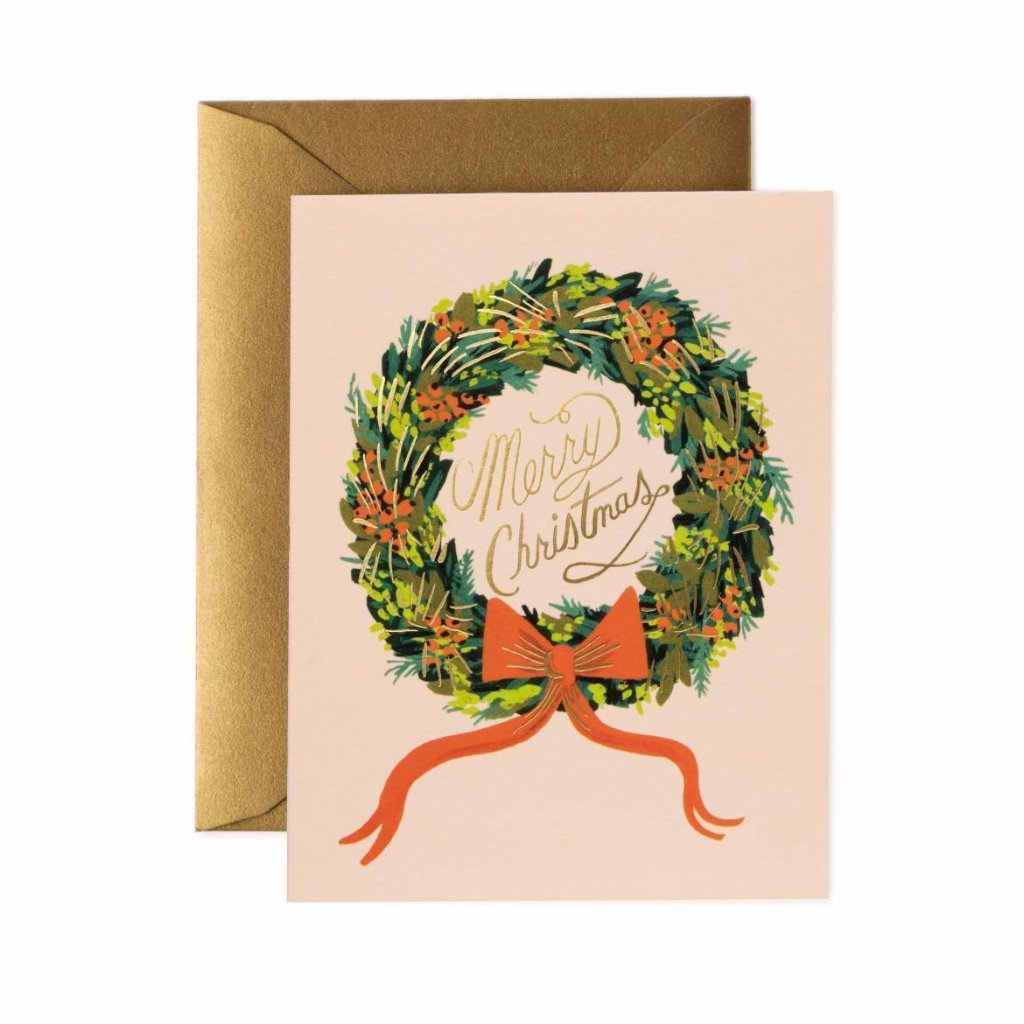 Christmas Wreath - Greetings Card by Rifle Paper Co