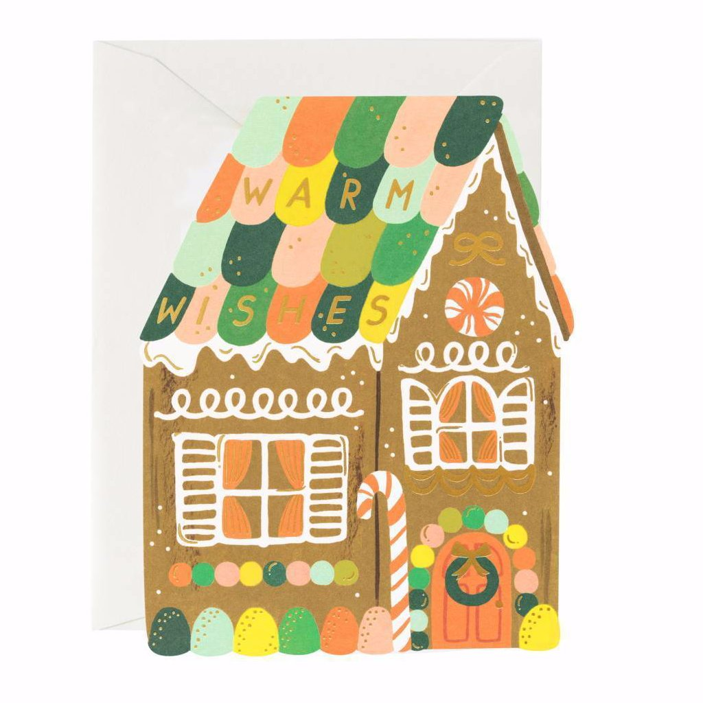 Gingerbread House - Christmas Greetings Card by Rifle Paper Co
