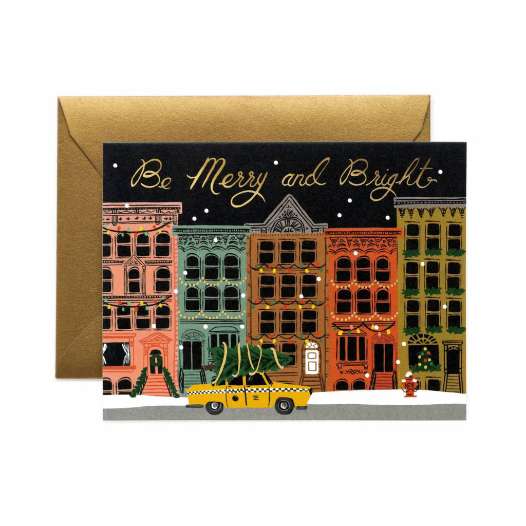City Holiday - Christmas Greetings Card by Rifle Paper Co